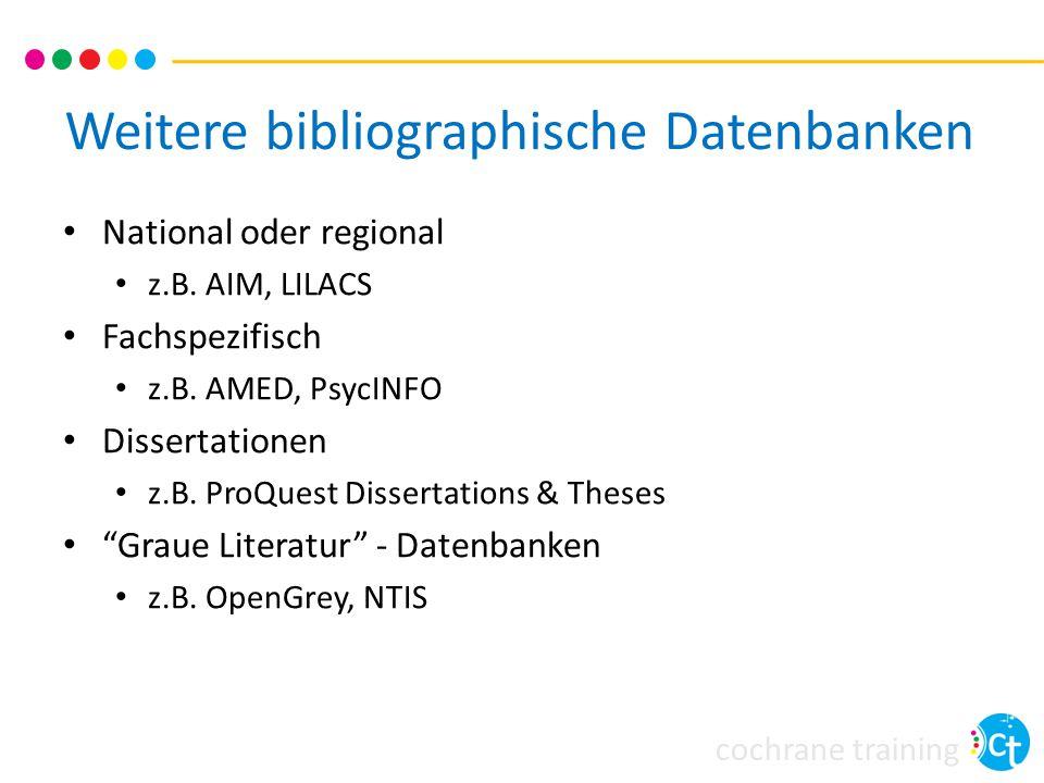 Weitere bibliographische Datenbanken