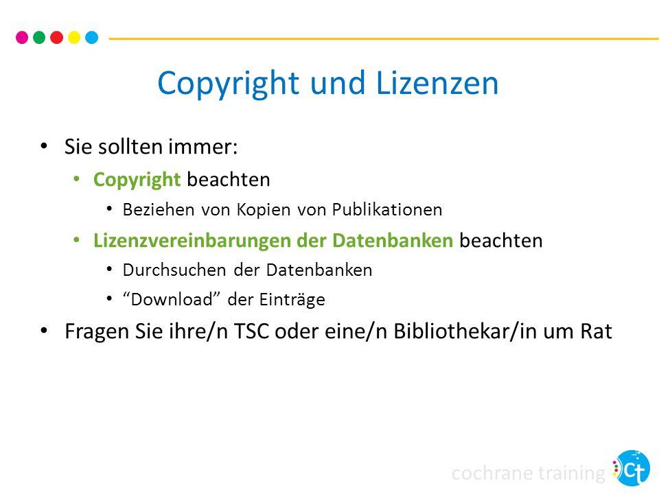 Copyright und Lizenzen