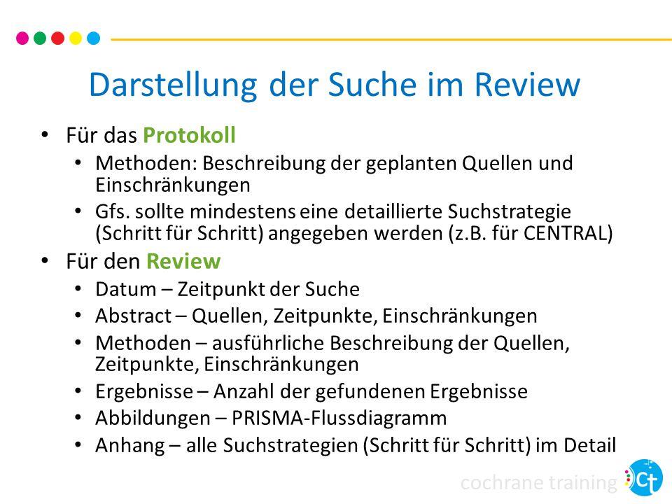 Darstellung der Suche im Review
