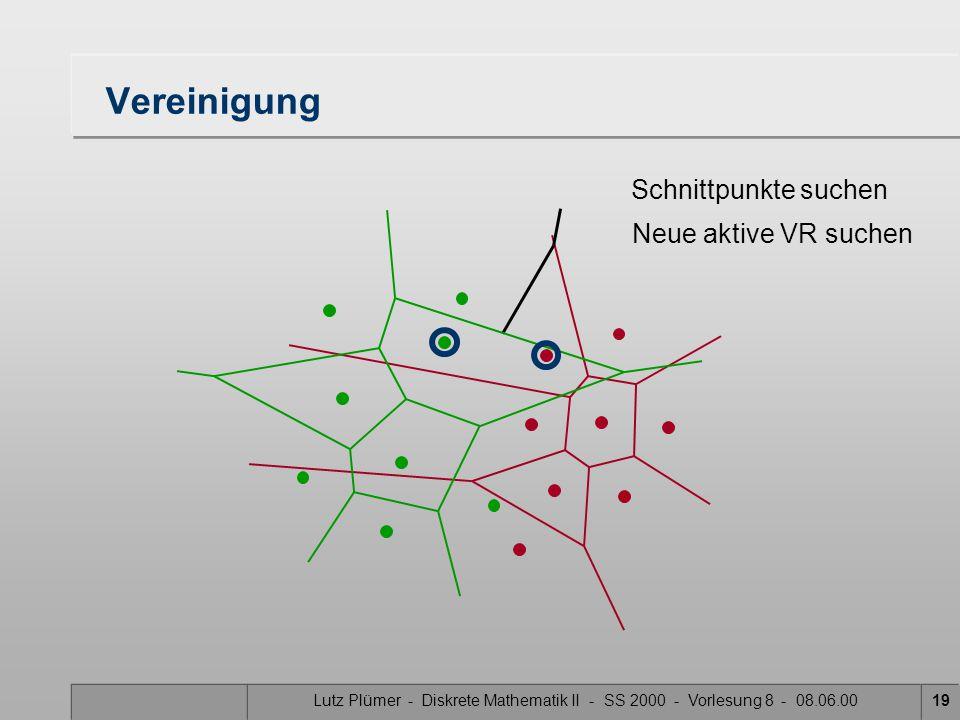 Vereinigung Schnittpunkte suchen Neue aktive VR suchen