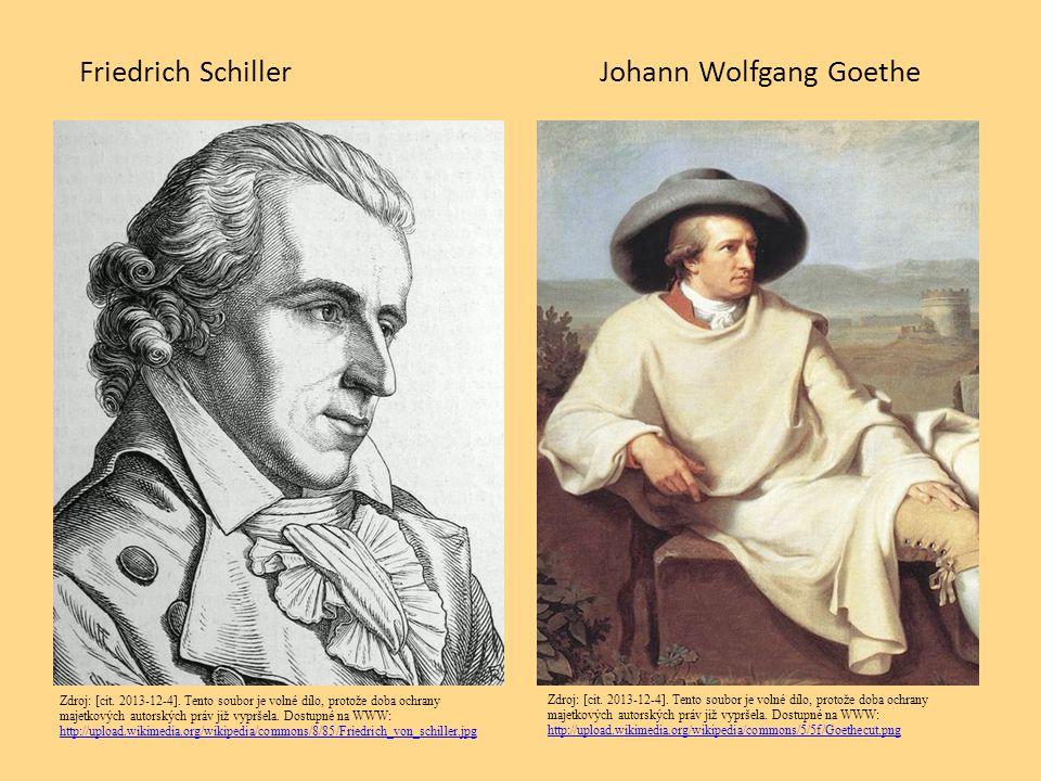 Friedrich Schiller Johann Wolfgang Goethe