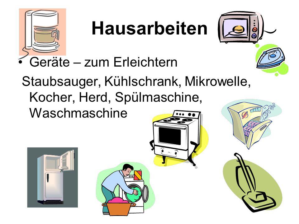 Hausarbeiten Geräte – zum Erleichtern