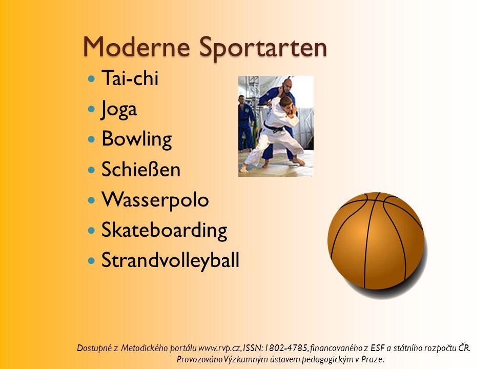 Moderne Sportarten Tai-chi Joga Bowling Schießen Wasserpolo