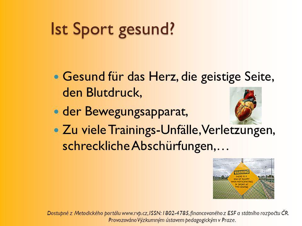 Ist Sport gesund Gesund für das Herz, die geistige Seite, den Blutdruck, der Bewegungsapparat,