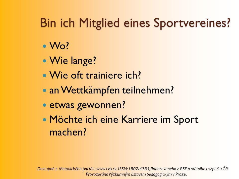 Bin ich Mitglied eines Sportvereines
