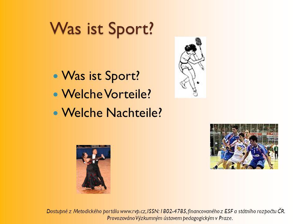 Was ist Sport Was ist Sport Welche Vorteile Welche Nachteile