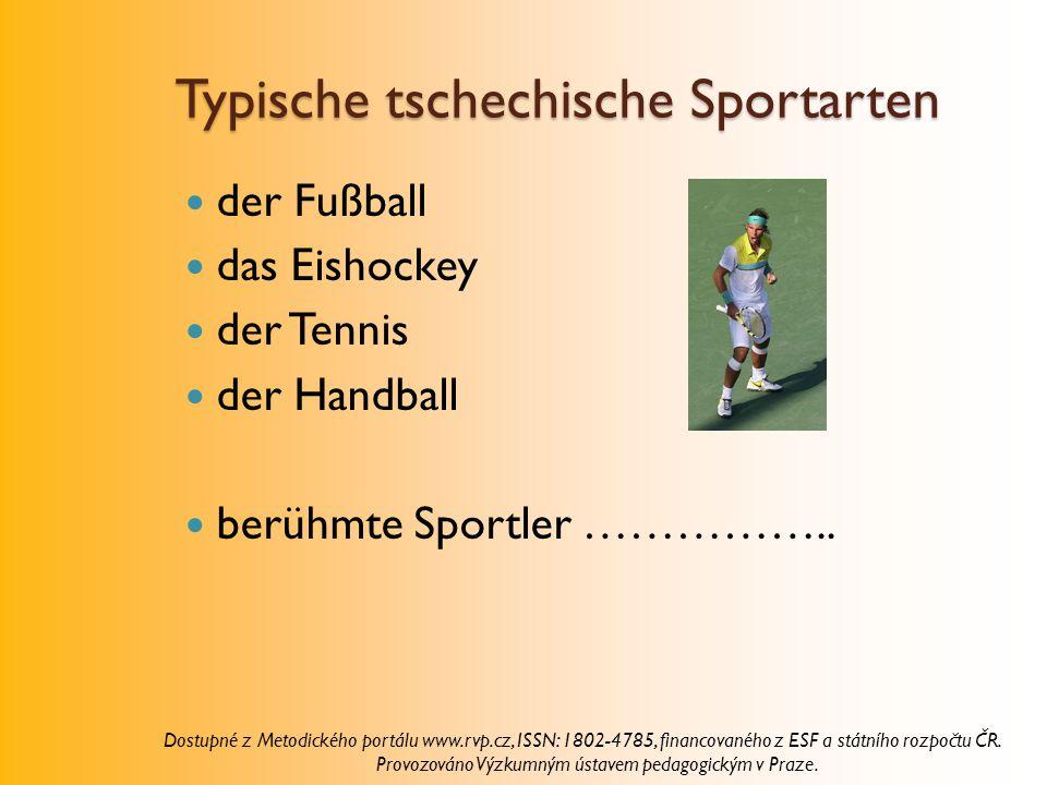 Typische tschechische Sportarten