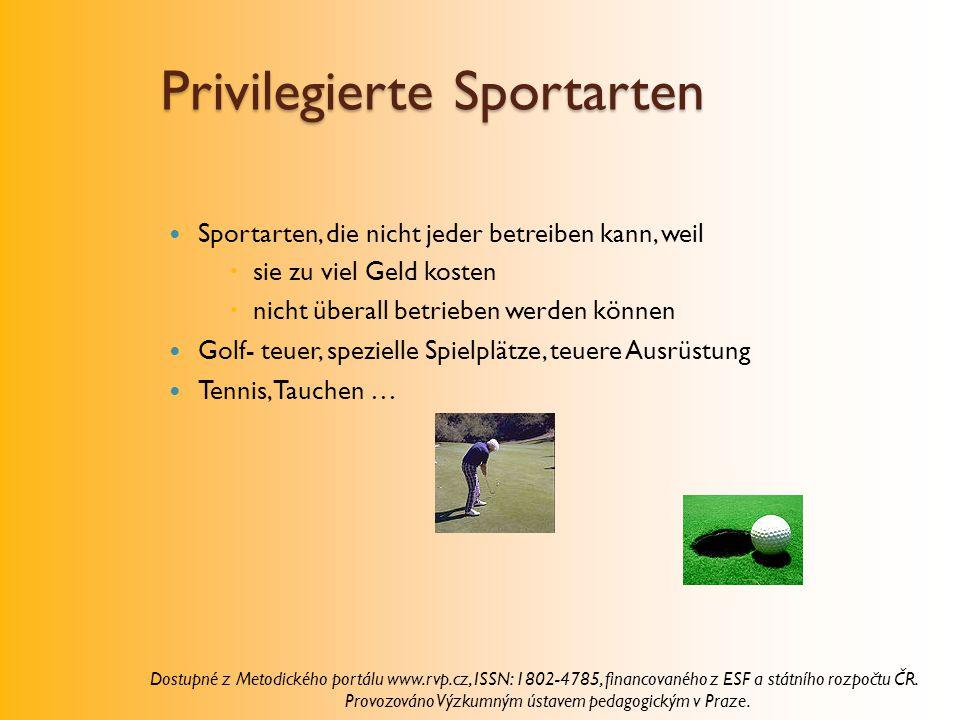 Privilegierte Sportarten