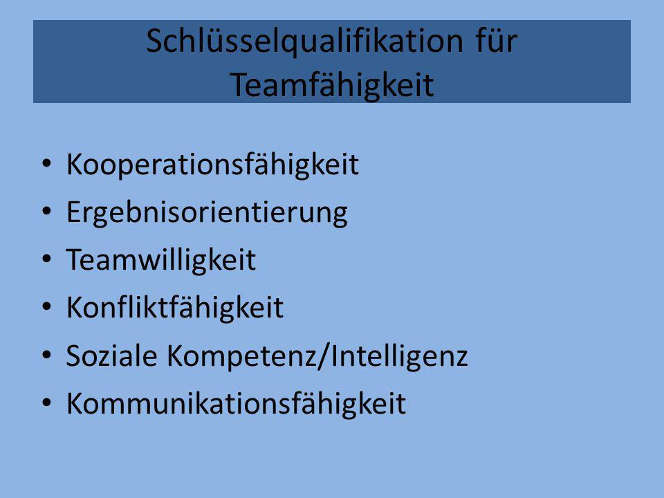 Schlüsselqualifikation für Teamfähigkeit