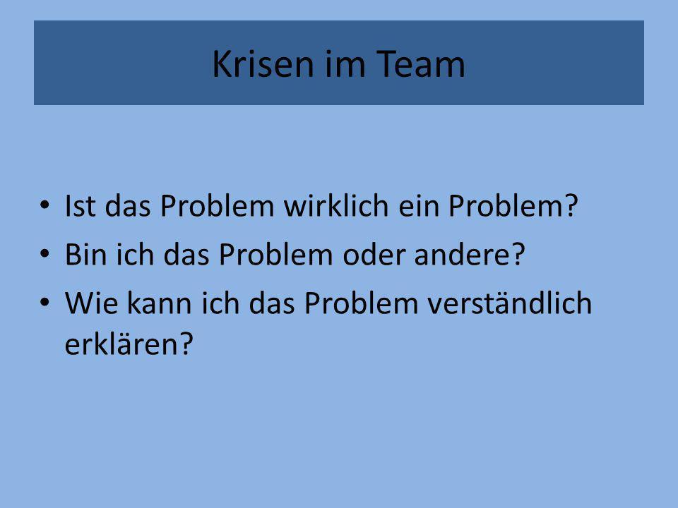 Krisen im Team Ist das Problem wirklich ein Problem