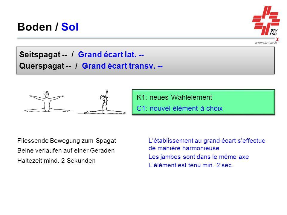 Boden / Sol Seitspagat -- / Grand écart lat. --