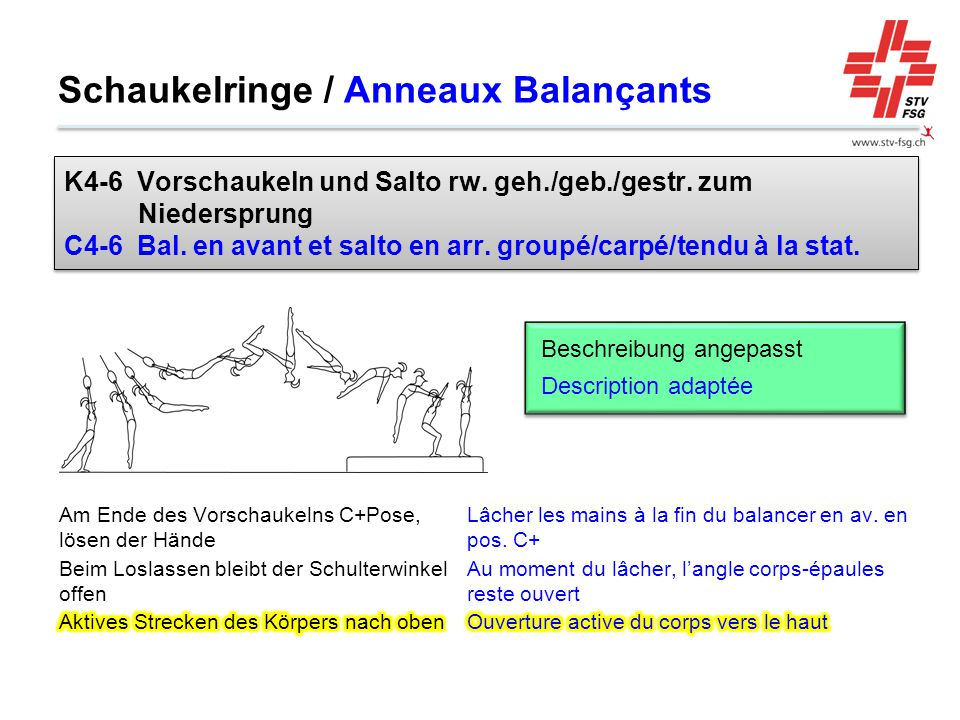 Schaukelringe / Anneaux Balançants