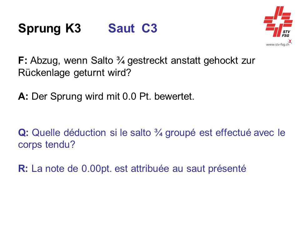 Sprung K3 Saut C3