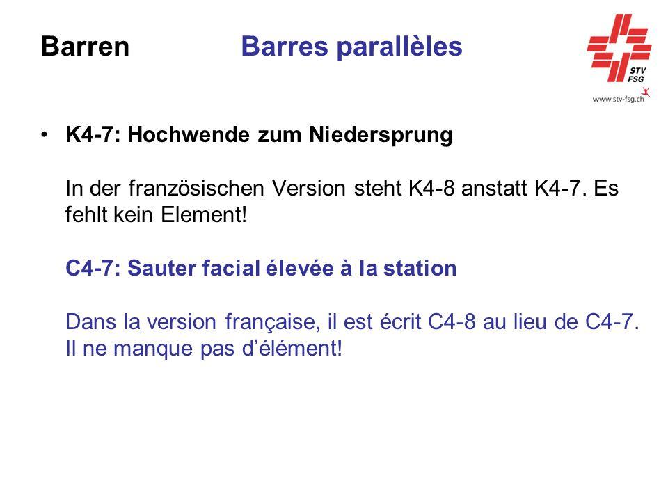 Barren Barres parallèles