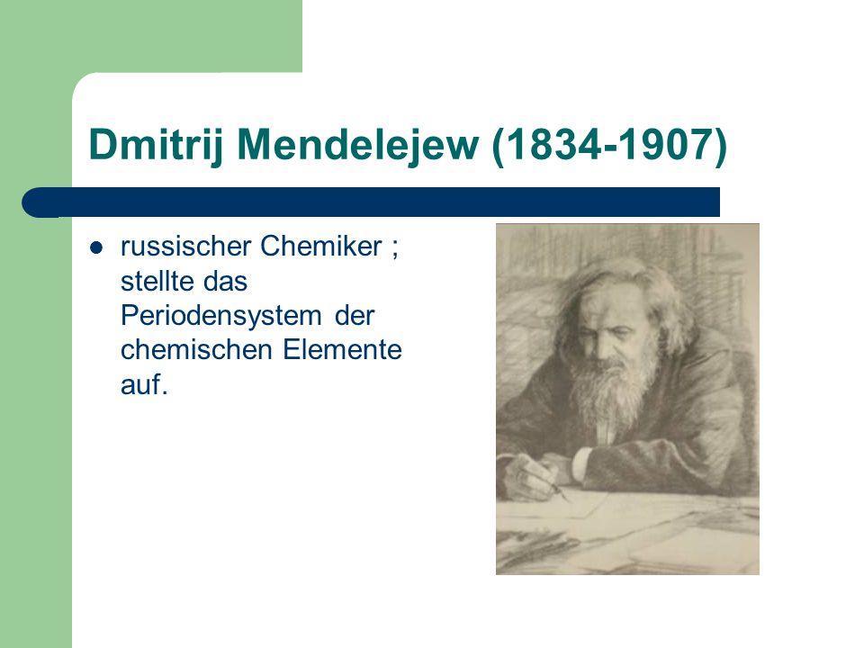 Dmitrij Mendelejew (1834-1907)