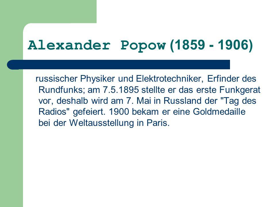Alexander Ророw (1859 - 1906)