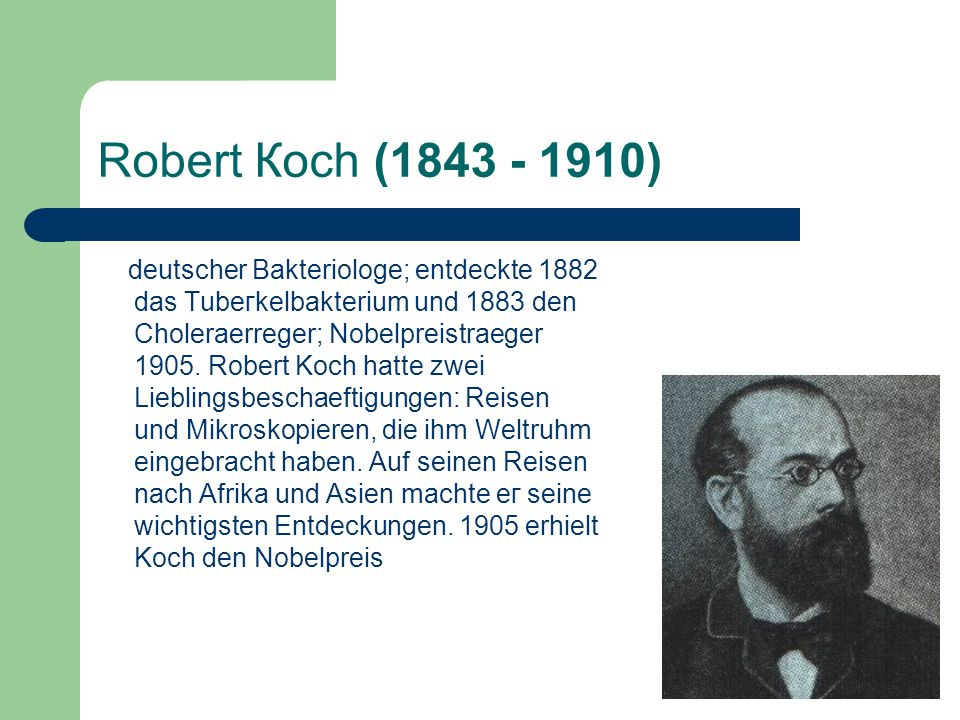 Robert Косh (1843 - 1910)