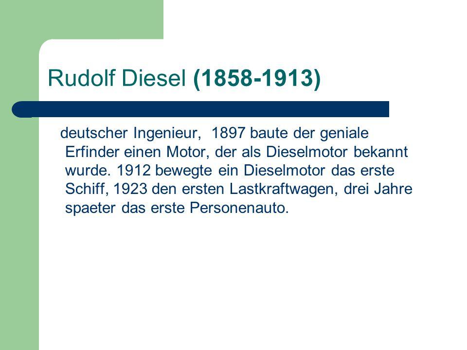 Rudolf Diesel (1858-1913)