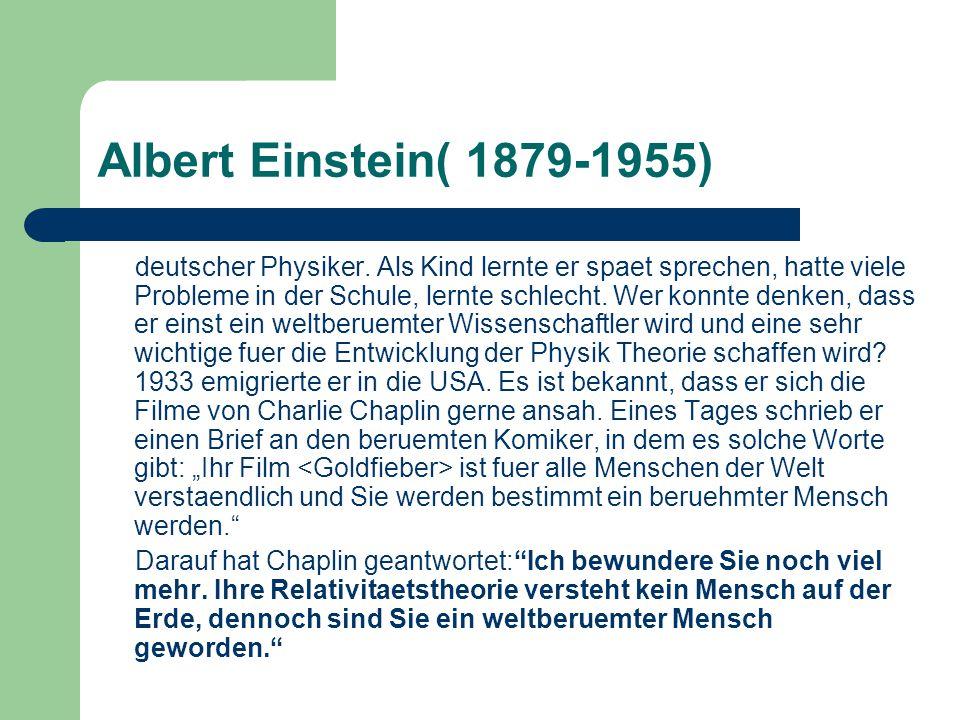 Albert Einstein( 1879-1955)