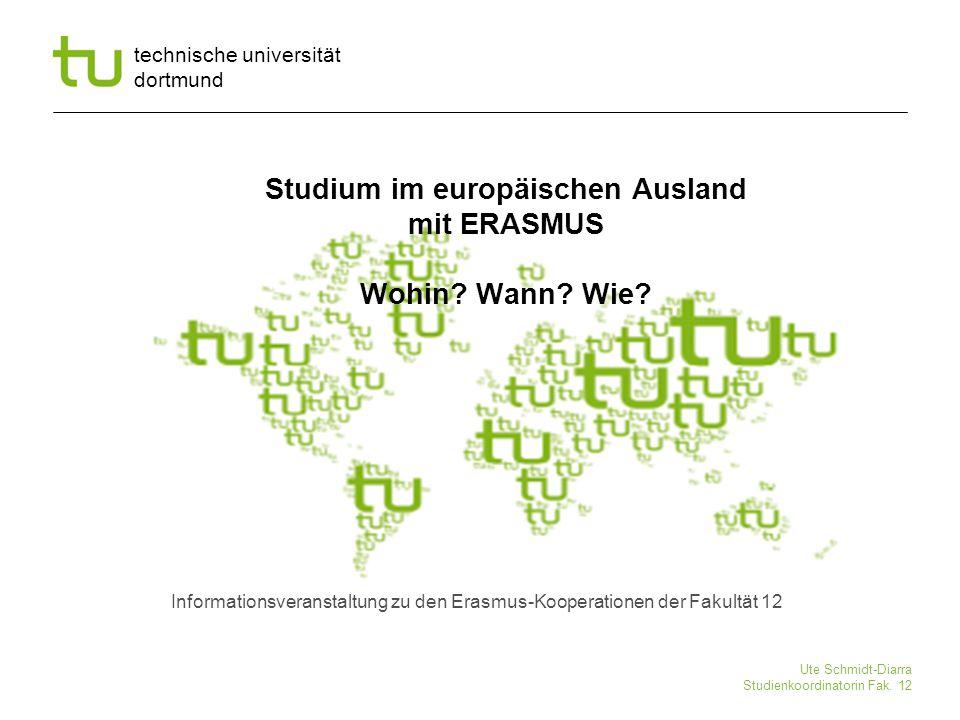 Studium im europäischen Ausland mit ERASMUS Wohin Wann Wie