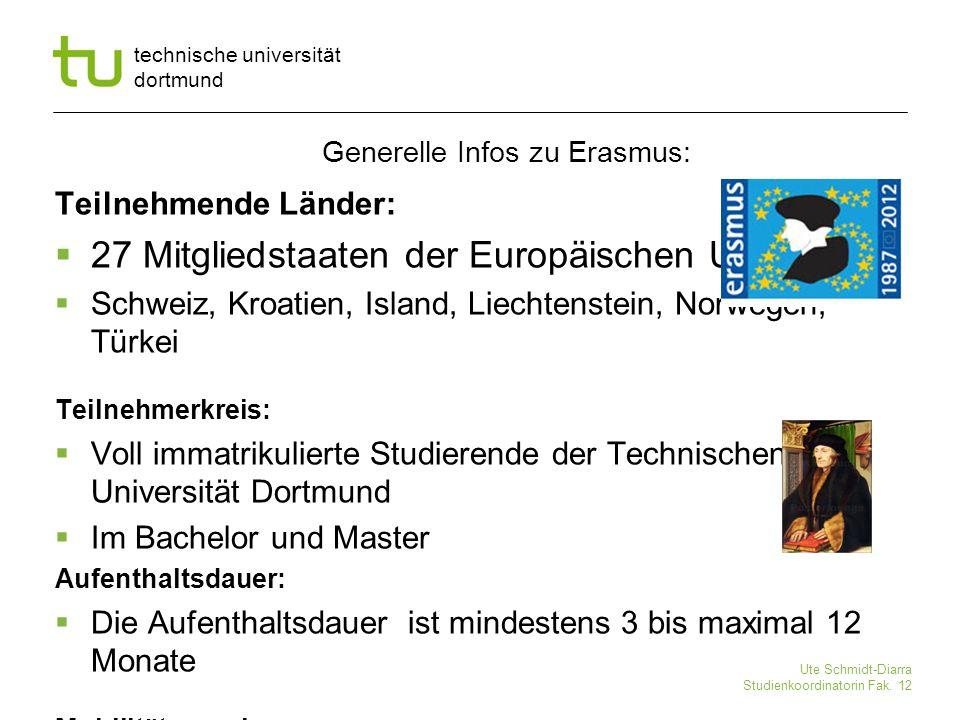 Generelle Infos zu Erasmus: