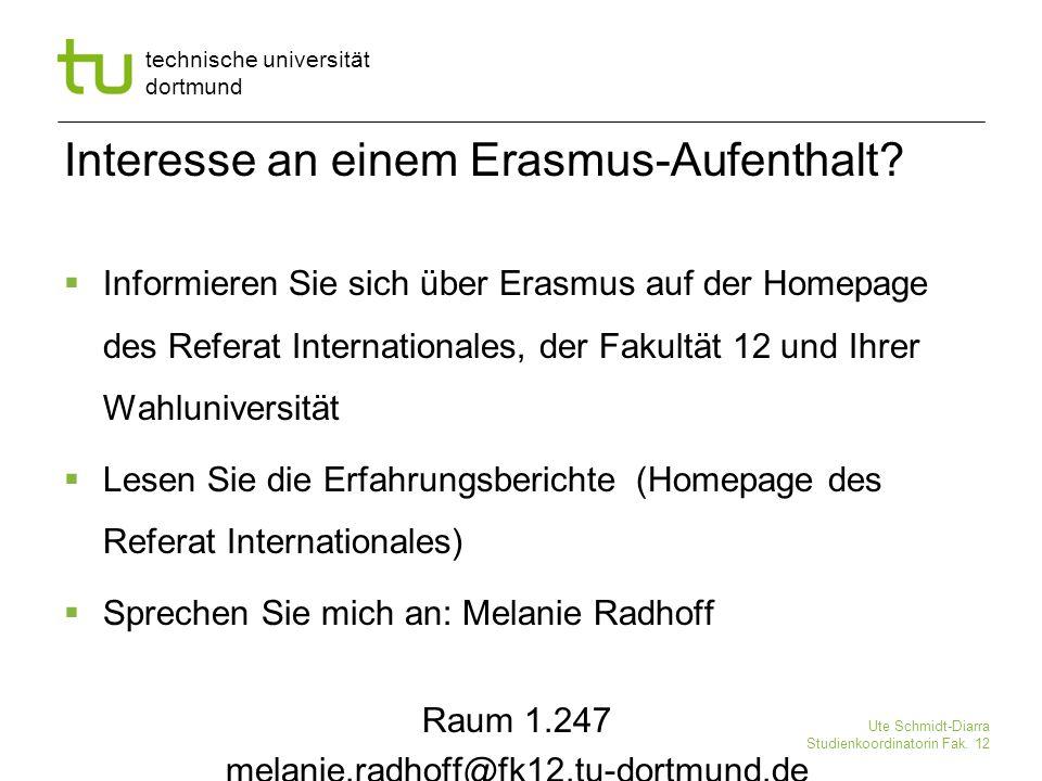Interesse an einem Erasmus-Aufenthalt