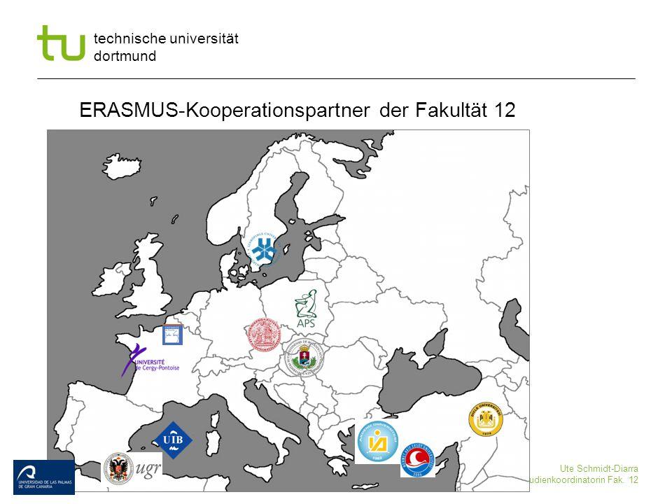 ERASMUS-Kooperationspartner der Fakultät 12