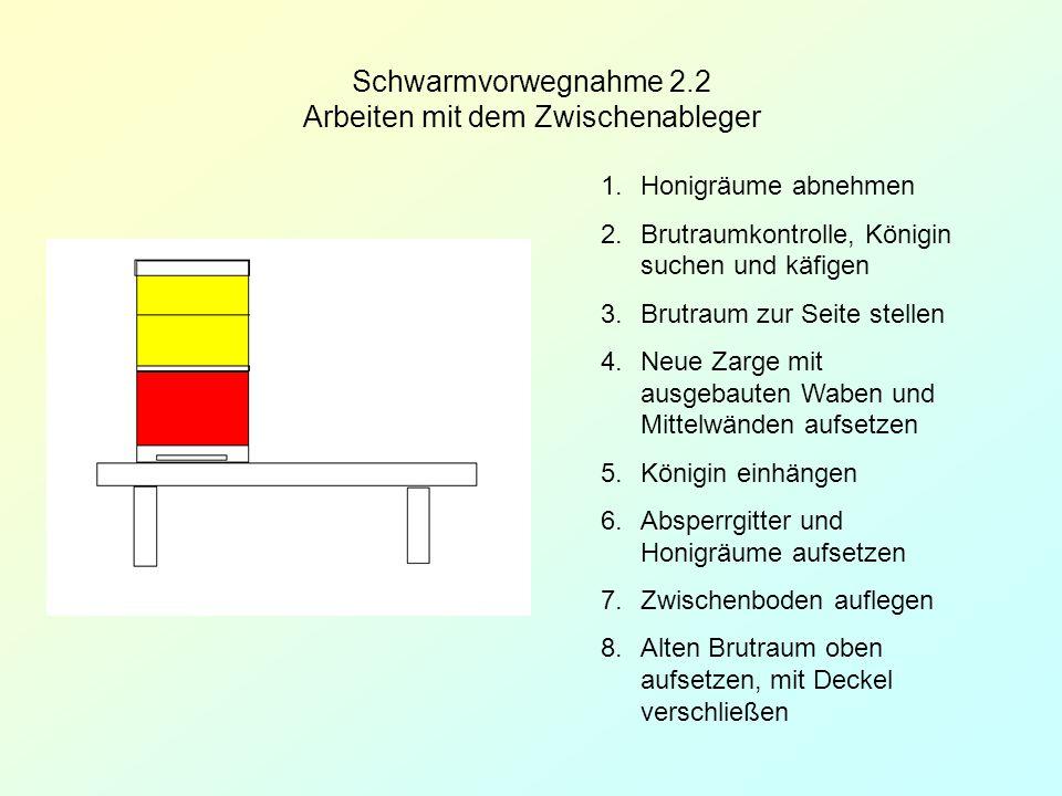 Schwarmvorwegnahme 2.2 Arbeiten mit dem Zwischenableger