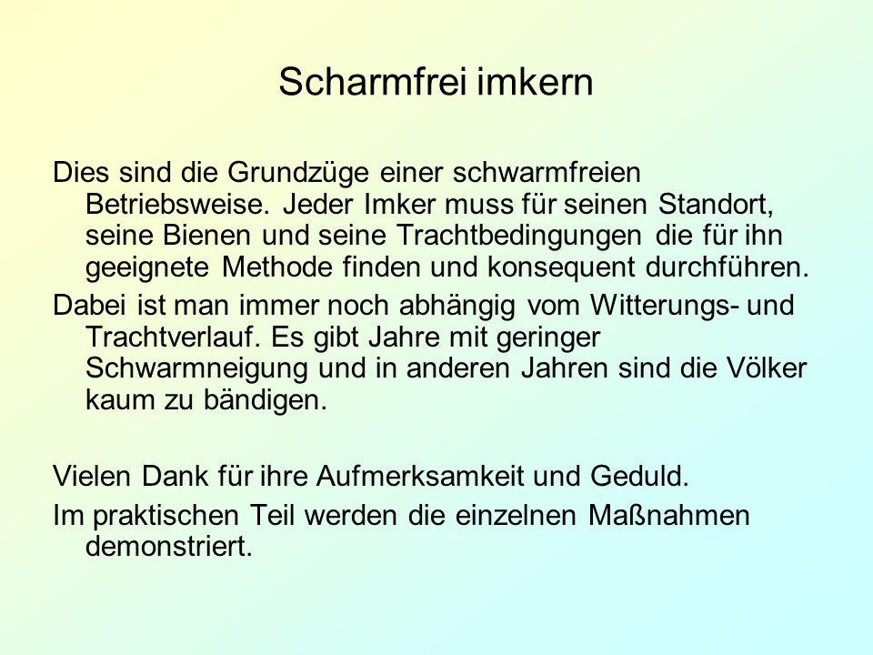 Scharmfrei imkern