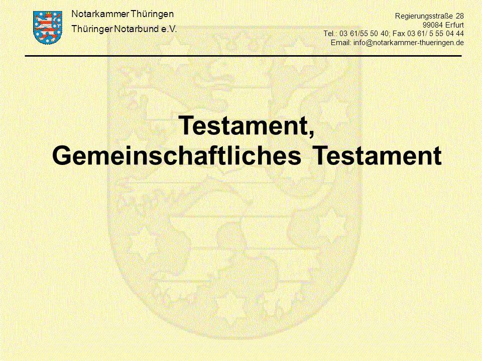 Gemeinschaftliches Testament