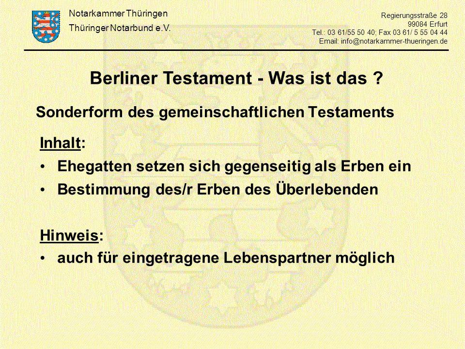 Berliner Testament - Was ist das