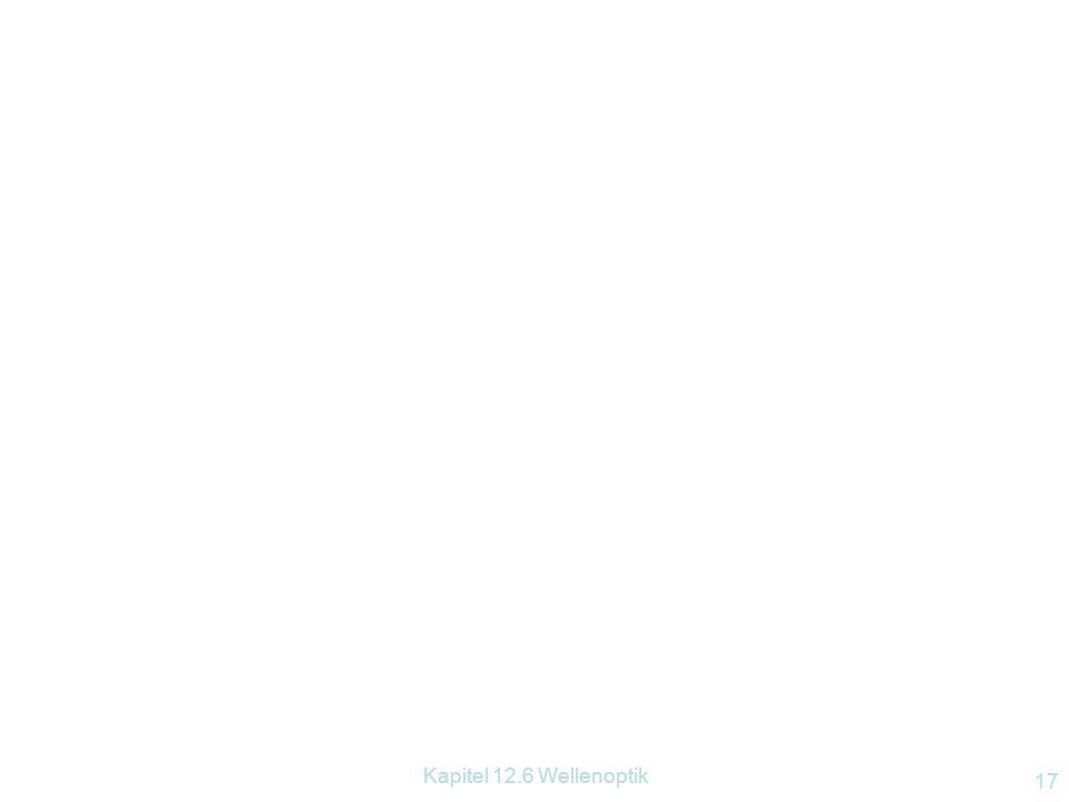 Kapitel 12.6 Wellenoptik