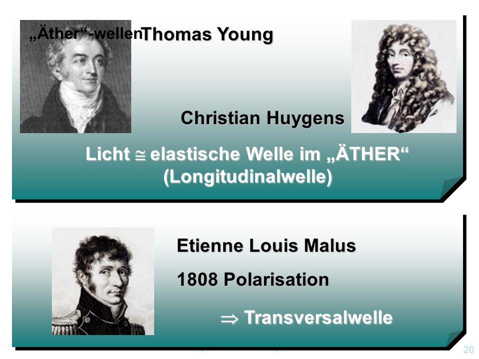 """Licht  elastische Welle im """"ÄTHER (Longitudinalwelle)"""