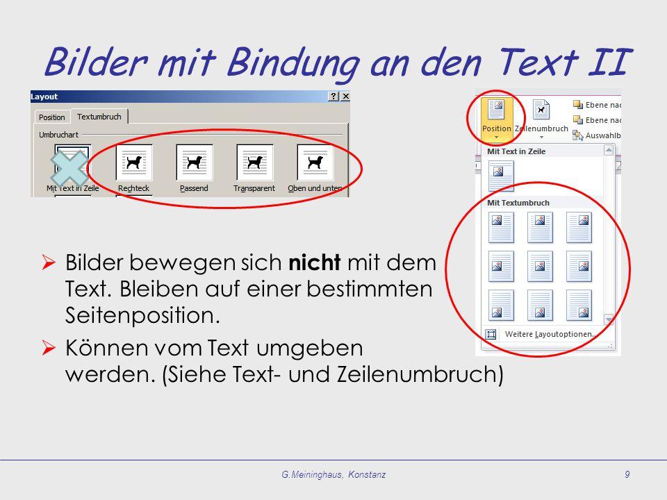 Bilder mit Bindung an den Text II