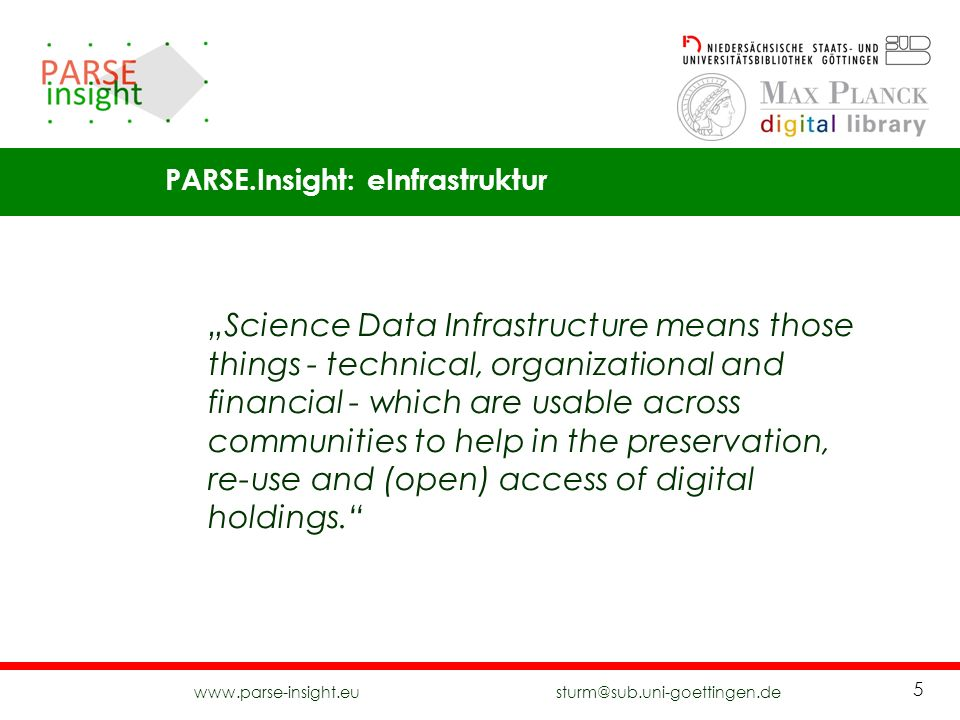 PARSE.Insight: eInfrastruktur