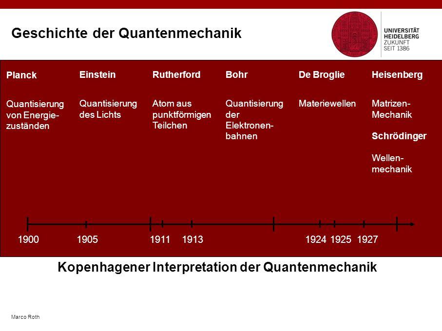 Geschichte der Quantenmechanik