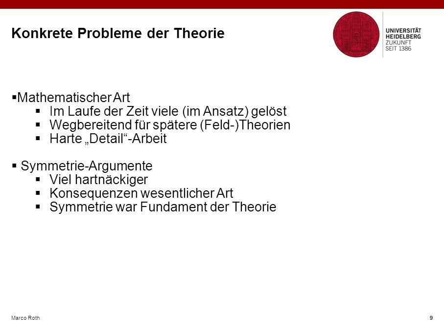 Konkrete Probleme der Theorie