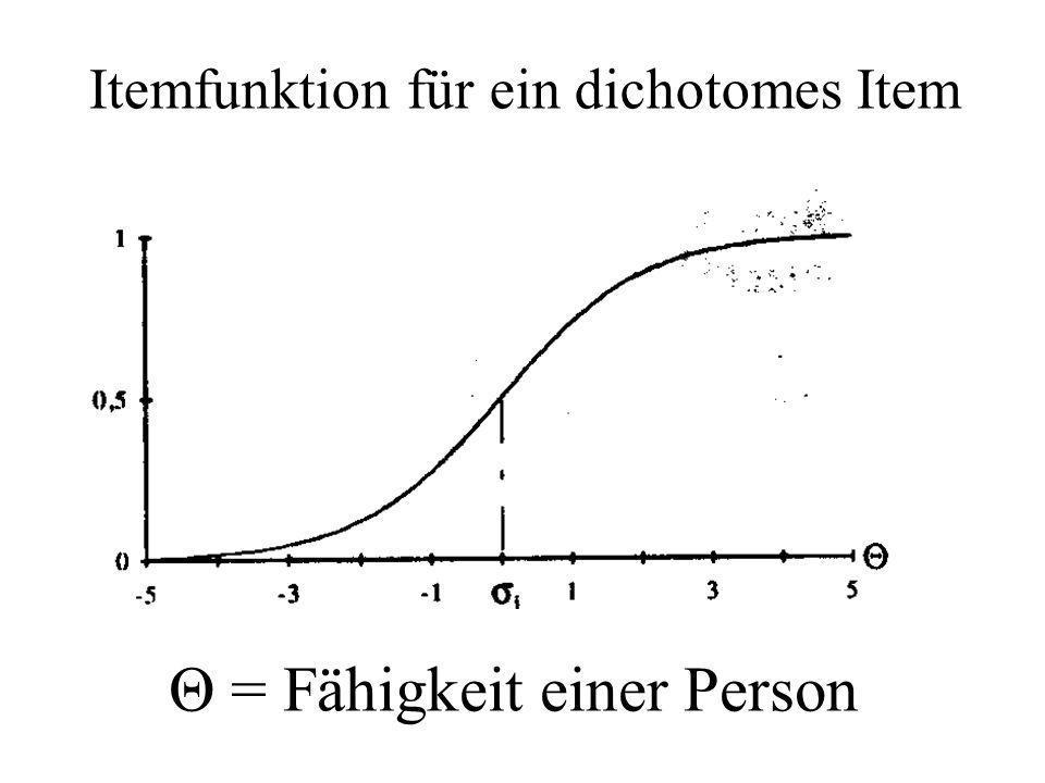 Θ = Fähigkeit einer Person