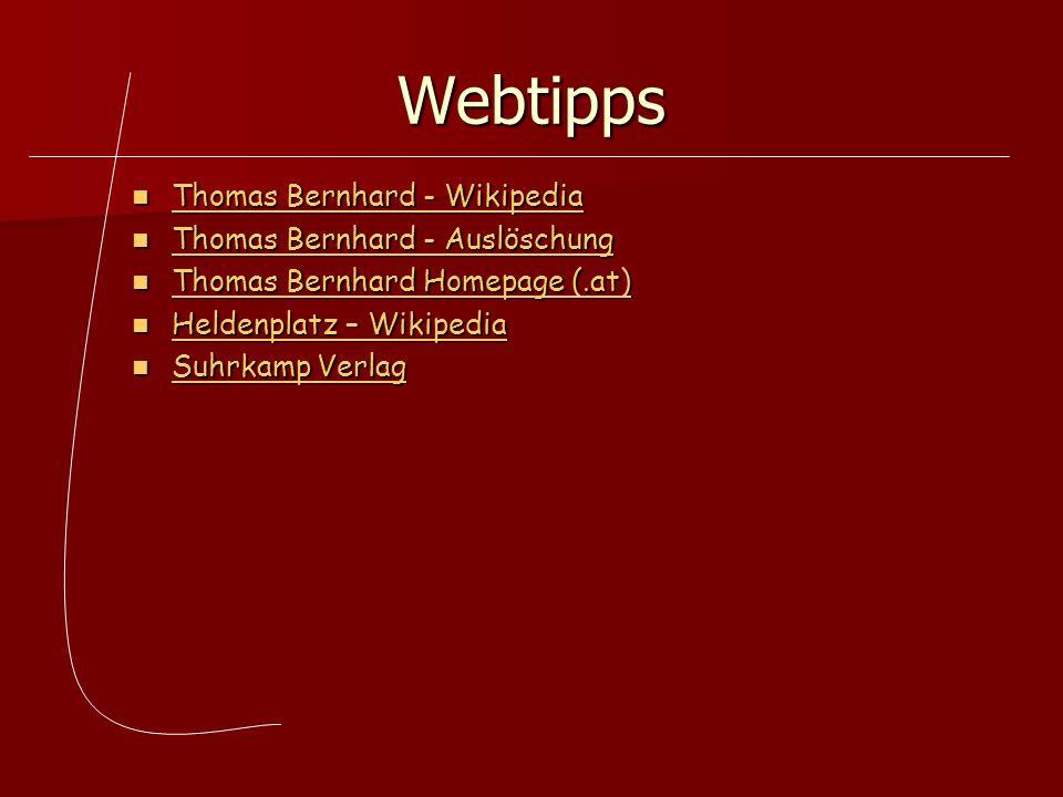 Webtipps Thomas Bernhard - Wikipedia Thomas Bernhard - Auslöschung