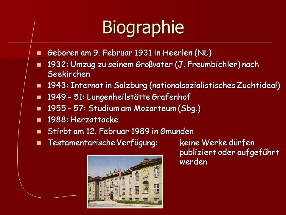 Biographie Geboren am 9. Februar 1931 in Heerlen (NL)