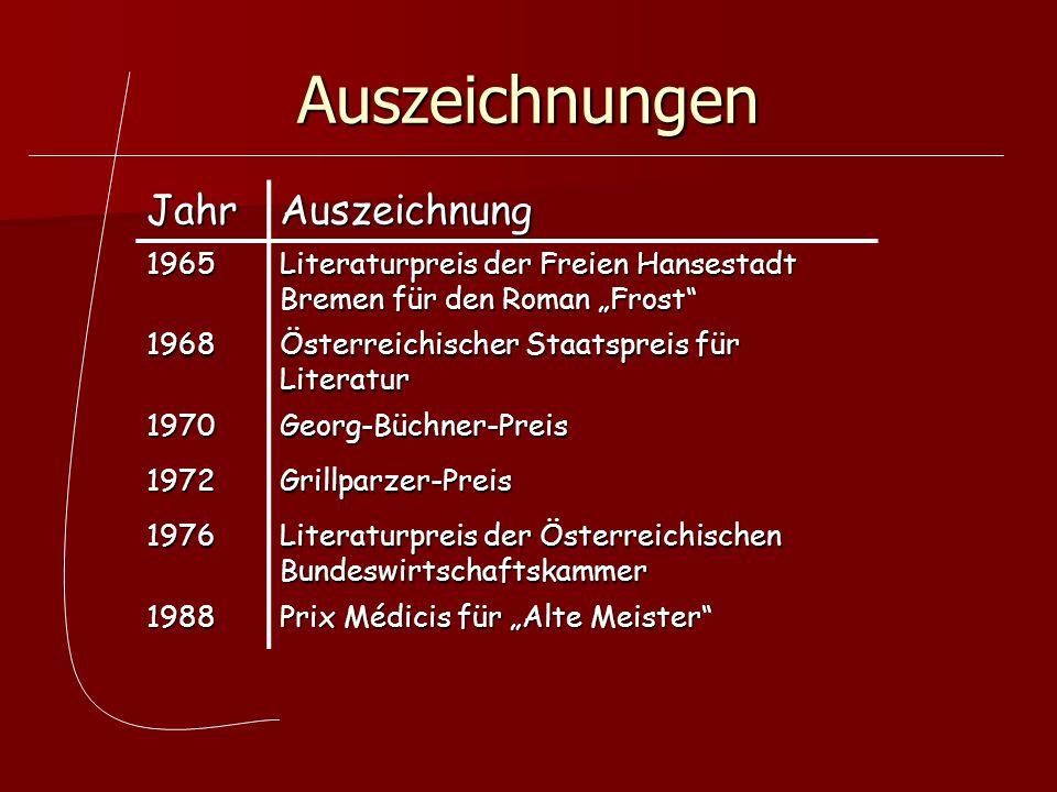 Auszeichnungen Jahr Auszeichnung 1965