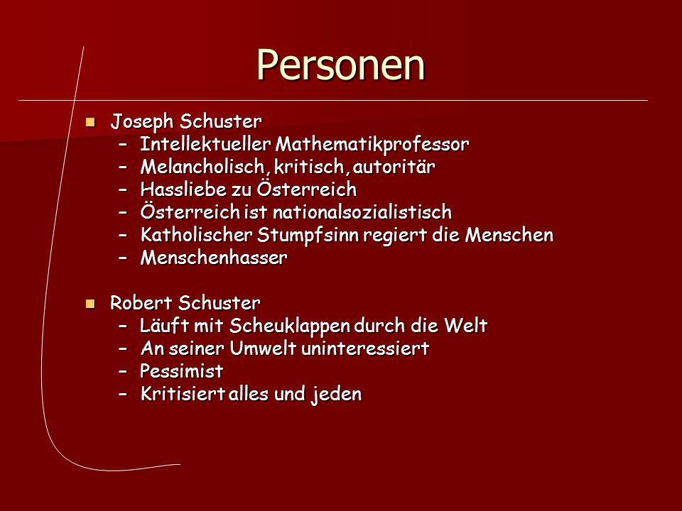 Personen Joseph Schuster Intellektueller Mathematikprofessor