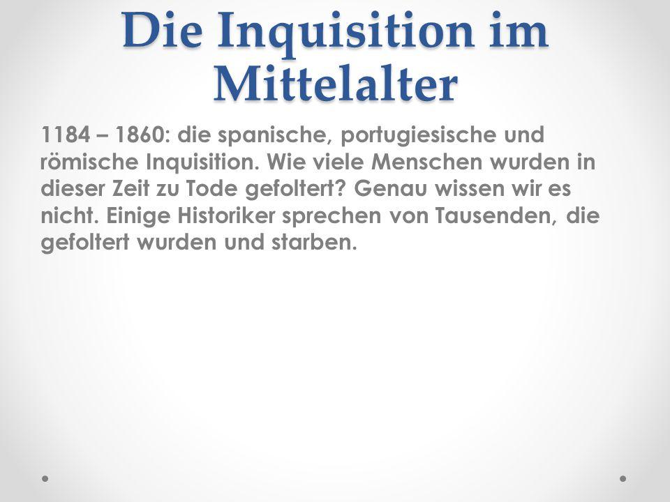 Die Inquisition im Mittelalter