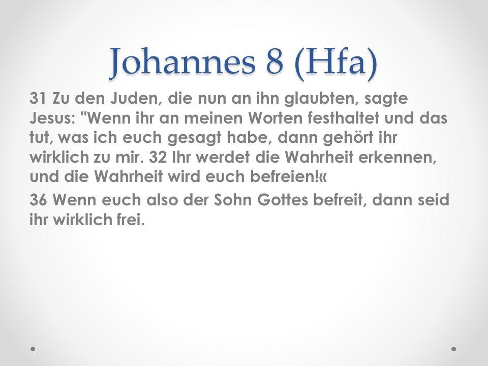 Johannes 8 (Hfa)