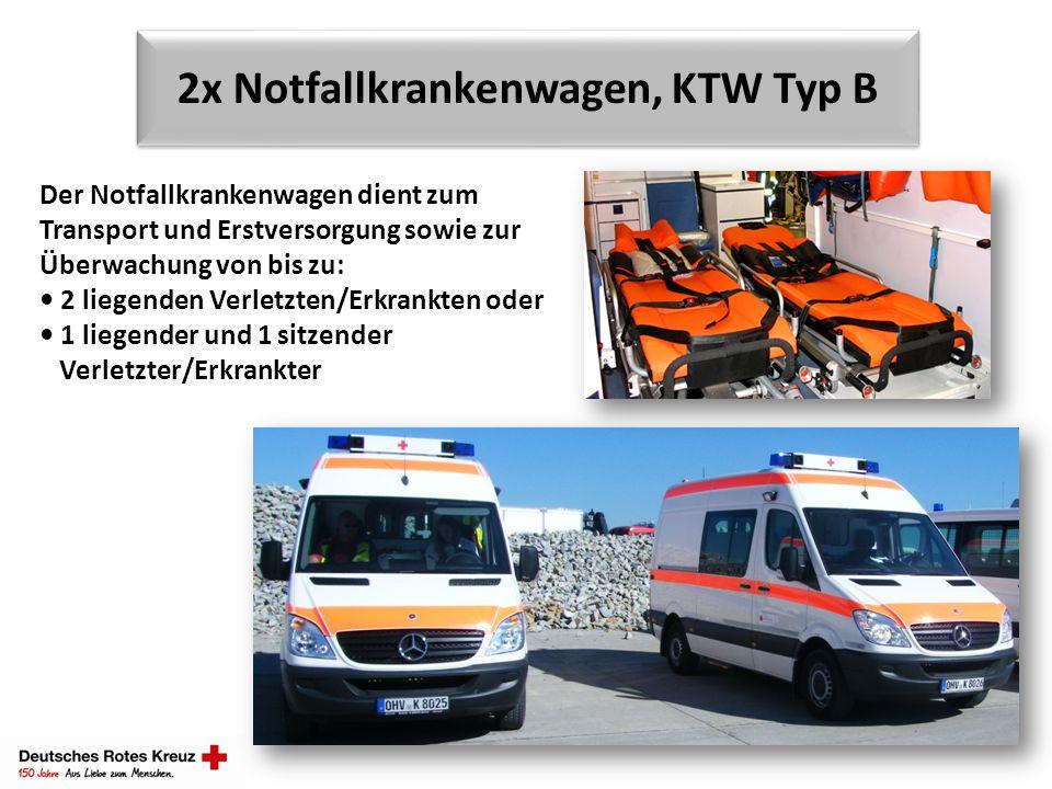 2x Notfallkrankenwagen, KTW Typ B