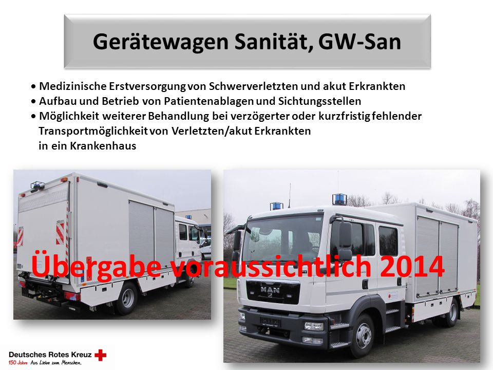 Gerätewagen Sanität, GW-San