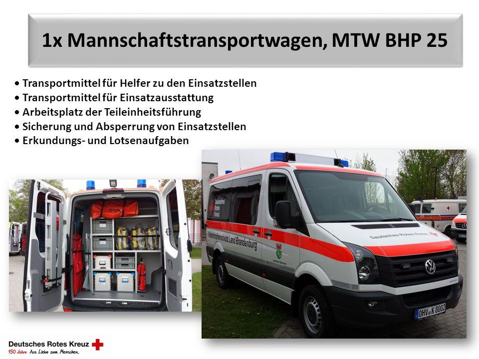 1x Mannschaftstransportwagen, MTW BHP 25