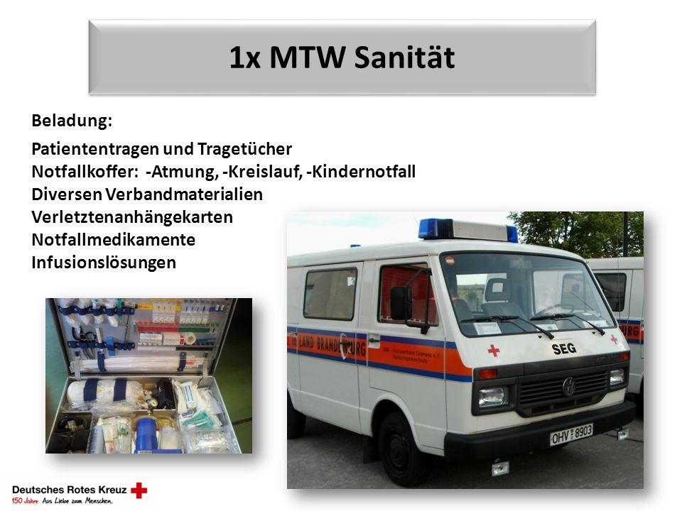 1x MTW Sanität Beladung: Patiententragen und Tragetücher