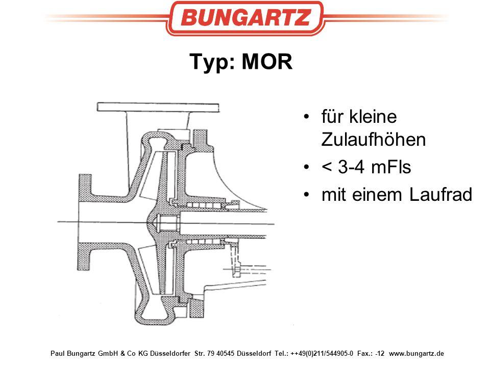 Typ: MOR für kleine Zulaufhöhen < 3-4 mFls mit einem Laufrad