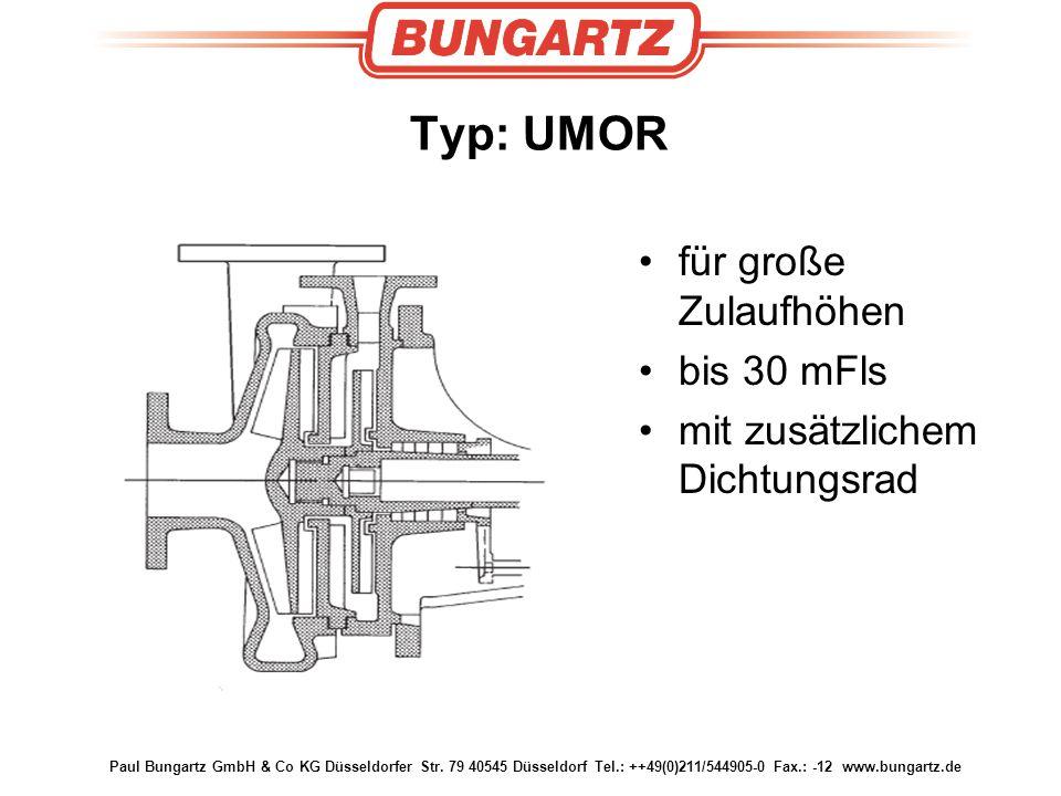 Typ: UMOR für große Zulaufhöhen bis 30 mFls
